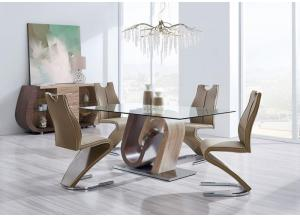 Image for Brown Walnut 5 PC Dining Set