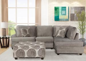 Flair Grey Sectional