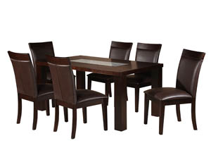 7pc Dinette Set Table With 6 Chairs