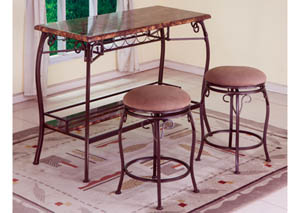 3pc Set Table and 2 Stools