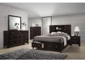 Lifestyle King Storage Bed w/Dresser and Mirror