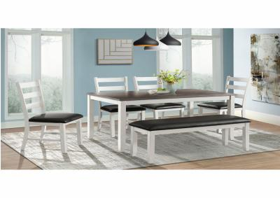 Image for Elements Martin 6pc Dining Set (Counter Height Table + 4 Stools + Bench)