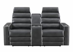 Blanche Lividity Power Reclining Sofa And Loveseat,Home Gallery Showcase