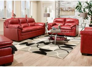 United Cardinal Sofa and Loveseat