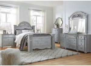 Zolena 5 Piece Queen Bedroom Set w/Queen Bed, Dresser, and Mirror