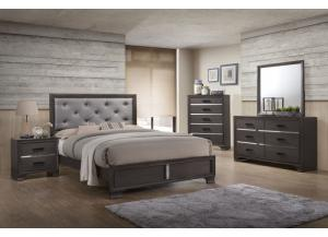 Lifestyle Gray Queen Upholstered Bed