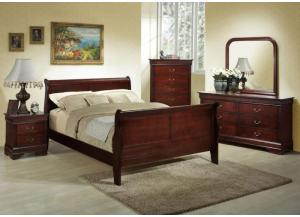7 Piece Queen Sleigh Bedroom Set,Home Gallery Showcase