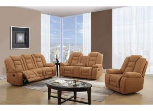 Global Brown Reclining Sofa & Loveseat
