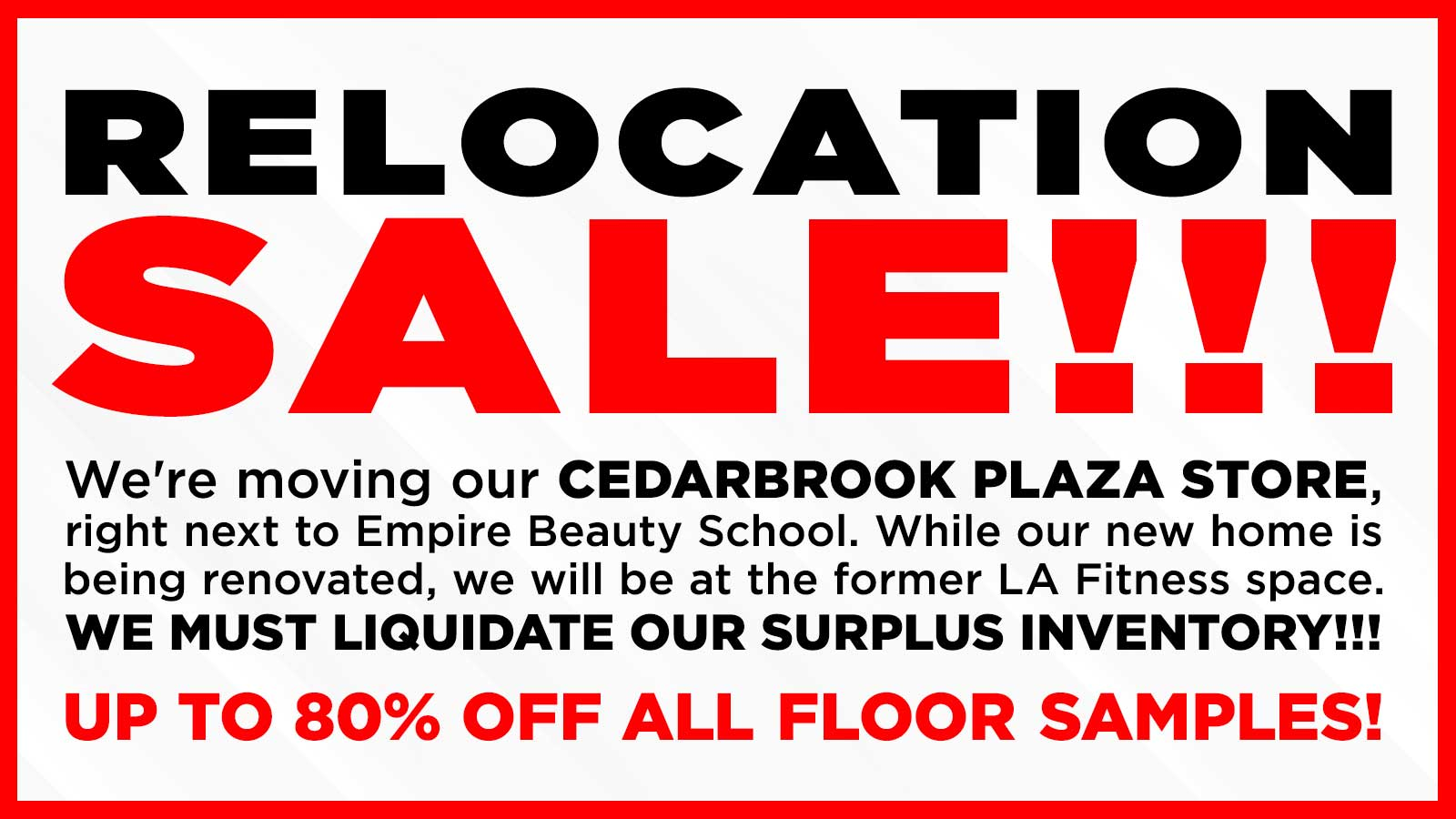 Relocation Sale