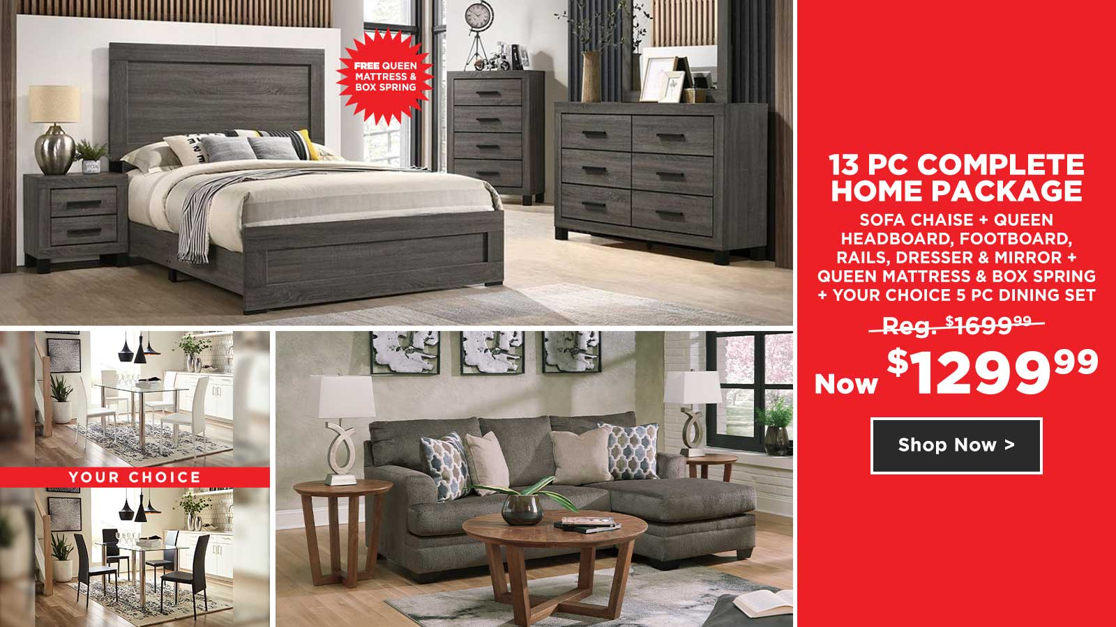 13pc Complete Home Package $1299.99