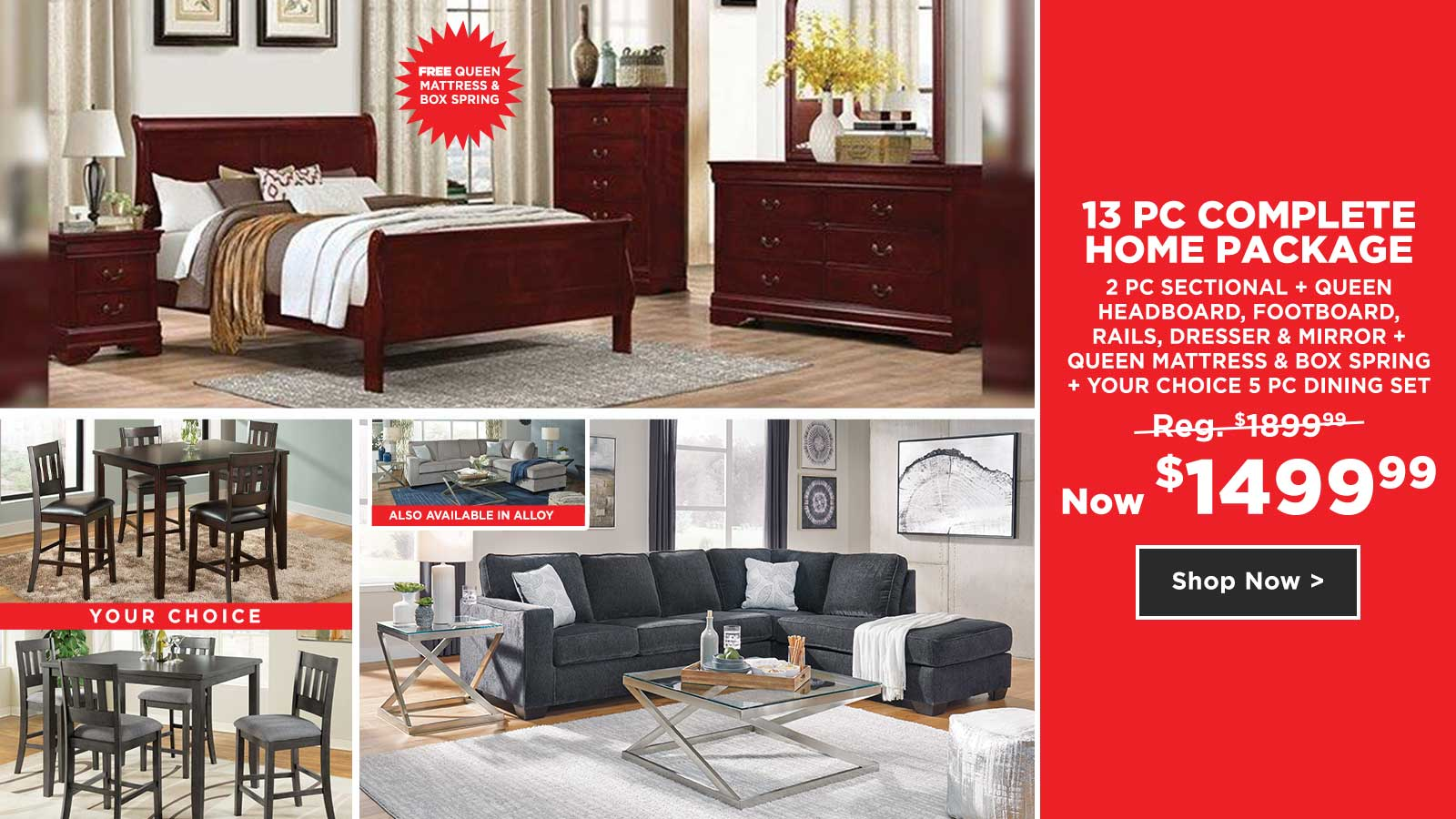 13pc Complete Home Package $1499.99