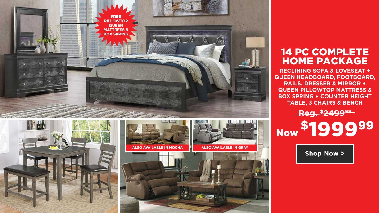 14pc Complete Home Package $1999.99