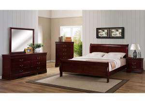 Louis Philippe Cherry King Bed