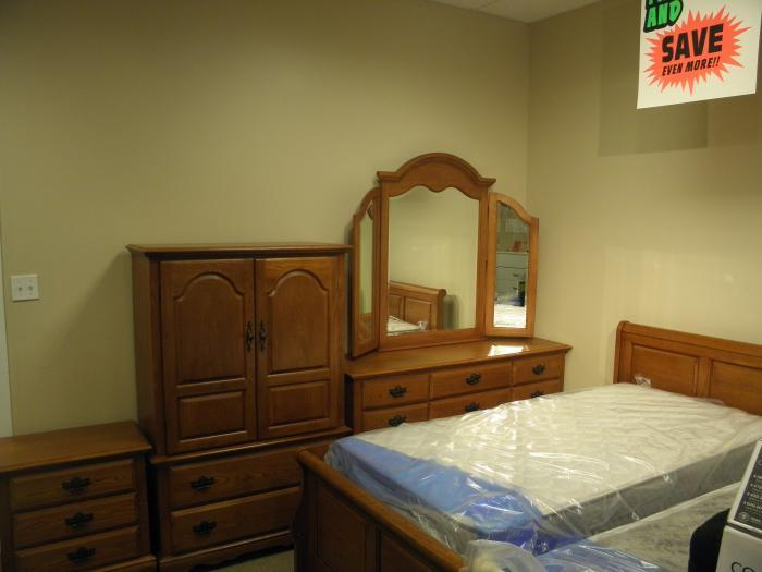 Tr510 Includes Dresser,Tri View Mirror, Door Chest, Twin Sleigh Bed and Nightstand.,Outlet Furniture
