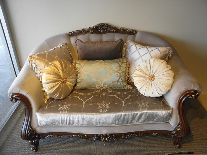 French Pavilion Loveseat,Outlet Furniture