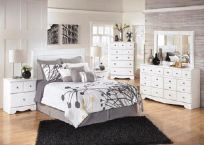 Weeki Complete Bedroom Set+Double Pillow Top Mattress,Ashley Signature