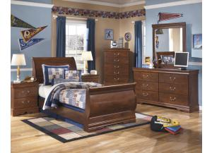 Twin Bed + Chest + Nightstand + Dresser/Mirror