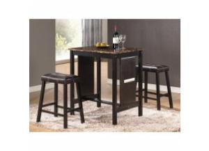 Image for 3 PC. Counter Height Dining Set