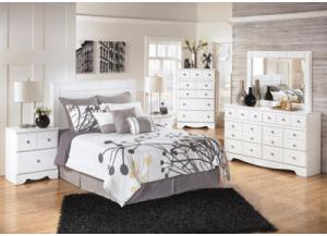 Weeki Complete Bedroom Set+Double Pillow Top Mattress