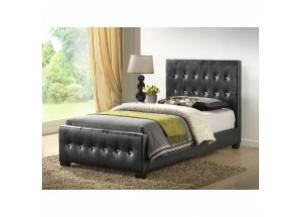 Black Twin size uphosltered bed