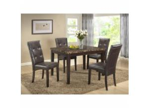 5 PC. Faux Marble Dining set