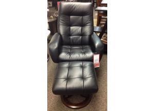 Black Stress-Free Chair and Ottoman