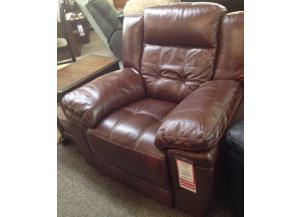 Hazelnut Leather Recliner