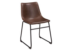 Centiar Two-tone Brown Dining Upholstered Side Chair (Set of 2)