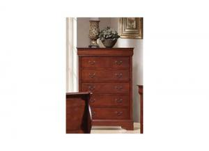 Cherry Louis Philippe 5 Drawer Chest