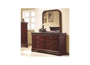 Cherry Louis Philippe 6 Drawer Dresser