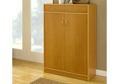 Shoe/ Storage Cabinet in Golden Beech