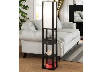 Floor Lamp in Red Cocoa
