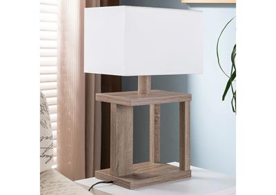 Table Lamp in Dark Taupe