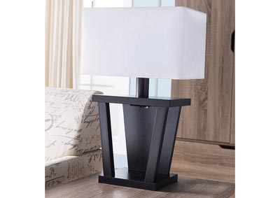 Table Lamp in Red Cocoa