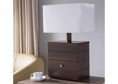 Table Lamp in Dark Walnut
