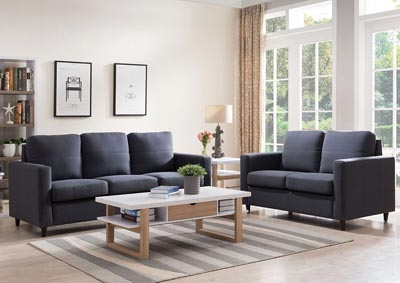 Dark Grey Sofa and Loveseat