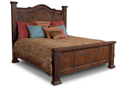 Grand Rustic Eastern King Bed