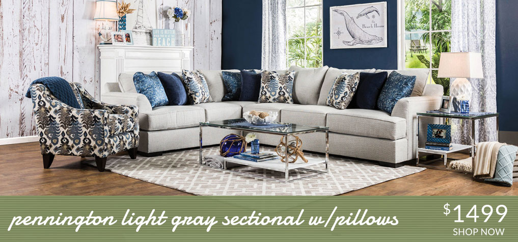 Pennington Gray Sectional $1499