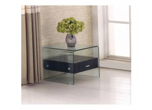 End Table Black w/Glass