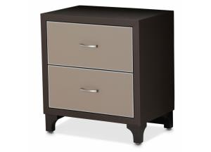 21 Cosmopolitan Taupe Nightstand