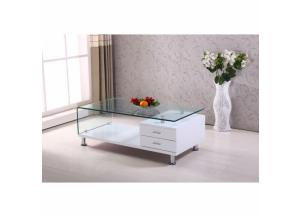 Coffee Table 2 Drawers w/Glass