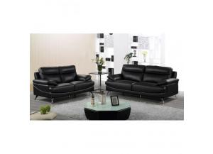 Best Quality Sofa And Loveseat 2Pc Set Black