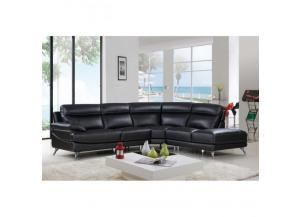 Best Quality  Sectional 3Pc Black