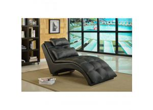 Tufted Design Chaise Black