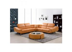 Best Quality Sectional 3Pc Orange