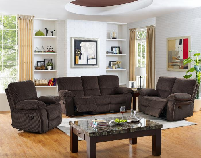 Furniture Hub Walker Mink Reclining Sofa