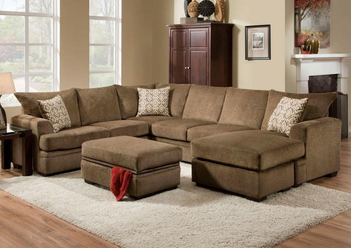 Furniture liquidators home center cornell cocoa sectional for Furniture liquidators