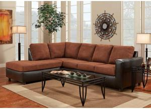 Aruba Chocolate Left Facing Sectional