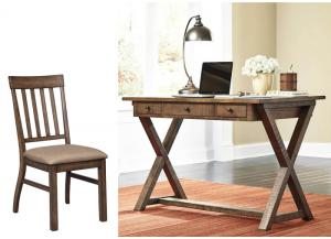 Minibreeze Brown 2Pc Desk & Chair