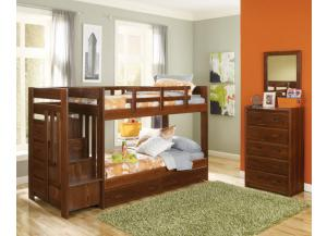 Heartland Twin Stair Bunk Bed *Mattresses and Underbed Drawers old Separately*